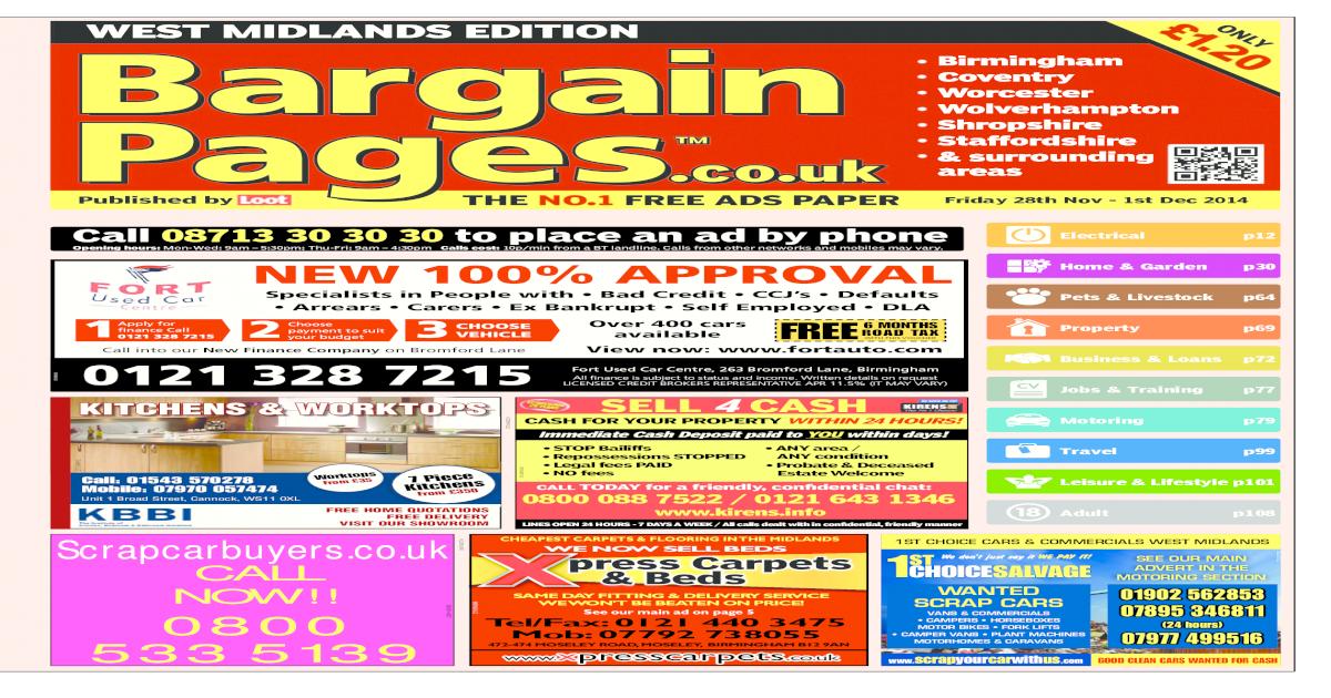 e3469d42ef Bargain Pages West Midlands, November 28th 2014 - [PDF Document]