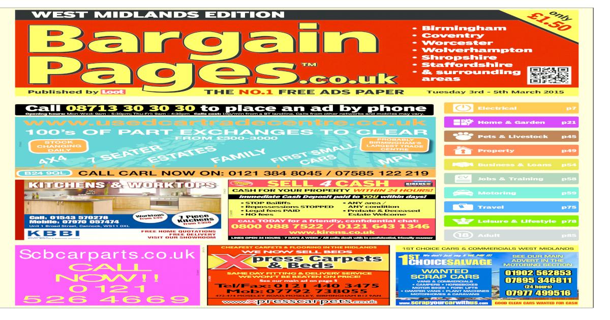 01812fb13a Bargain Pages West Midlands, March 3rd 2015 - [PDF Document]